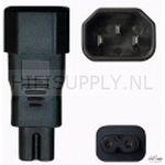 Kemp IEC 320/C22-C7 adapter per stuk