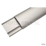 Kabelgoot design aluminium zilver/zwrt 100cm lang 35mm breed per stuk