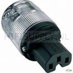 Wattgate 320i 10A Transparant IEC stekker