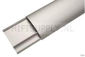 Kabelgoot design aluminium zilver/zwrt 100cm lang 35mm breed per stuk