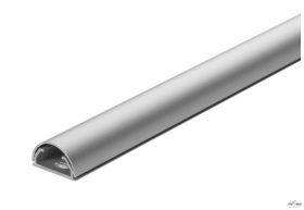 Kabelgoot design aluminium zilver/zwart 50cm lang 35mm breed per stuk